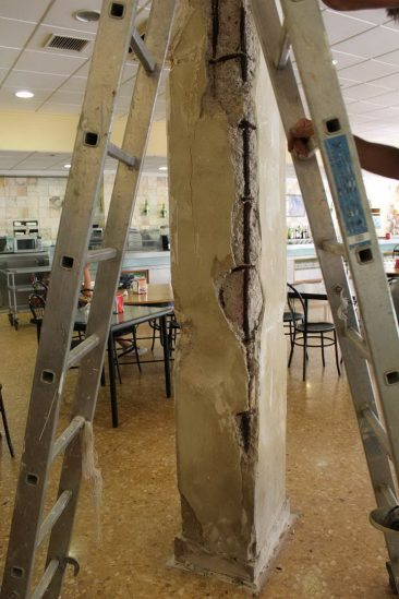 Refuerzo de pilares en Massamagrell daños pilares