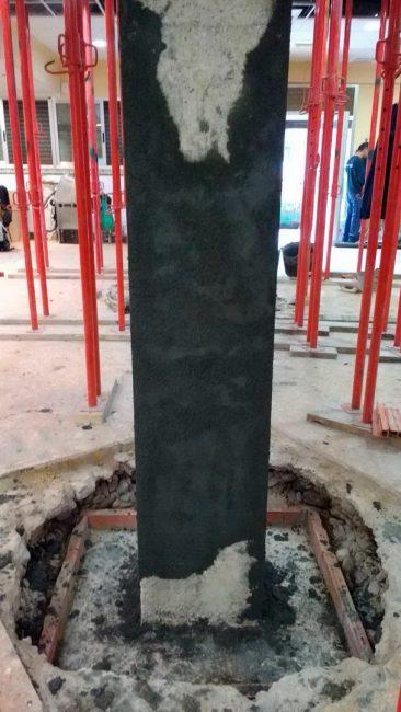 Refuerzo de pilares en Massamagrell