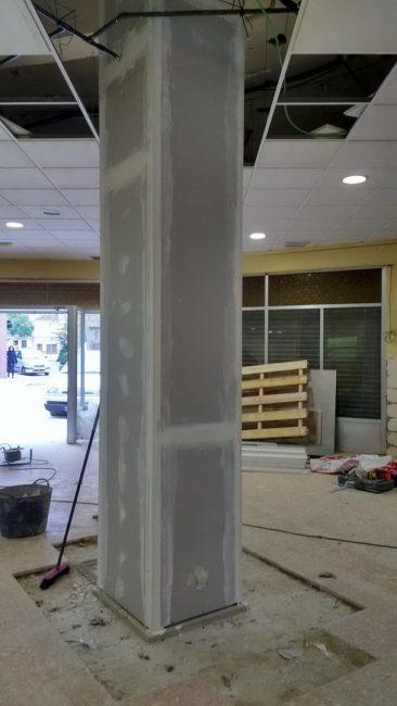 Refuerzo de pilares en Massamagrell detalle proteccion fuego