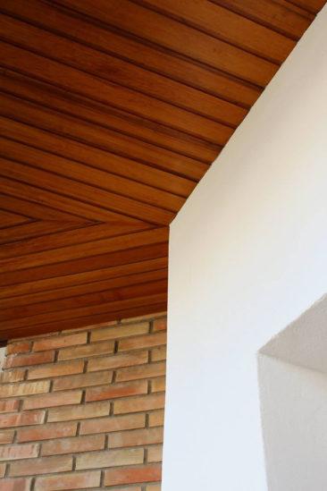 Rehabilitacion de fachada en Alicante proteccion falso techo de madera