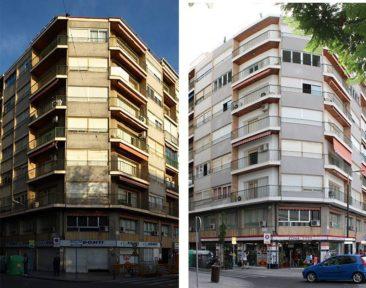 Rehabilitacion de fachada en Alicante